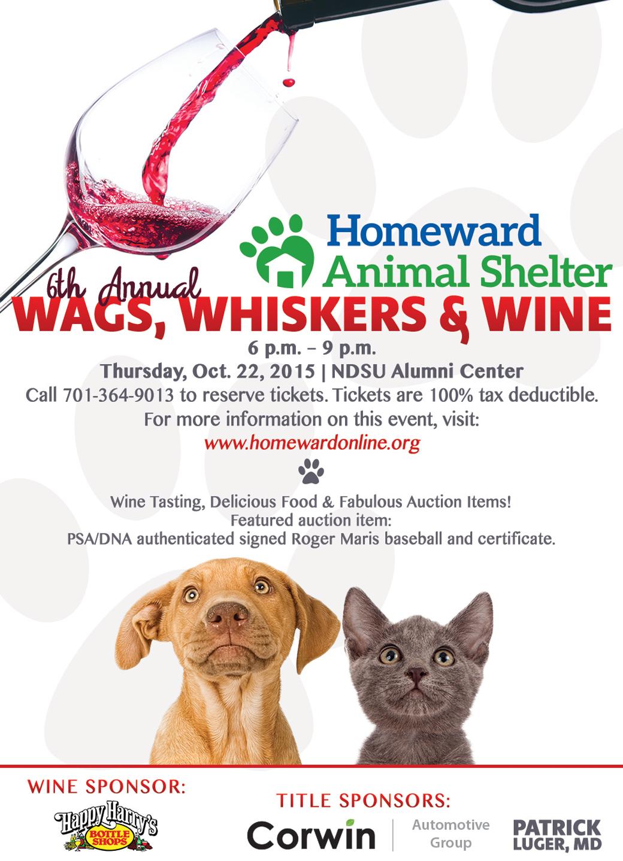 Calendar Planner October : Wags whiskers wine happy harry s bottle shop